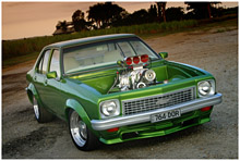 Holden Torana big block Chevrolet Engine with a blower