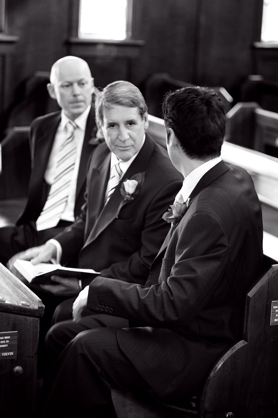 Best man looking directly at camera - Chris Gentle wedding photography. Brisbane australia.