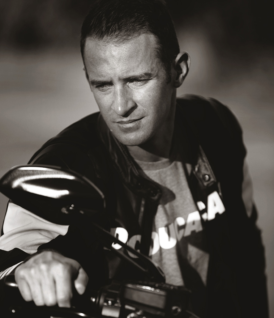 Portrait special of Will Davison v8 Supercar driver and 2 time bathurst winner. Ducati Motorcycle
