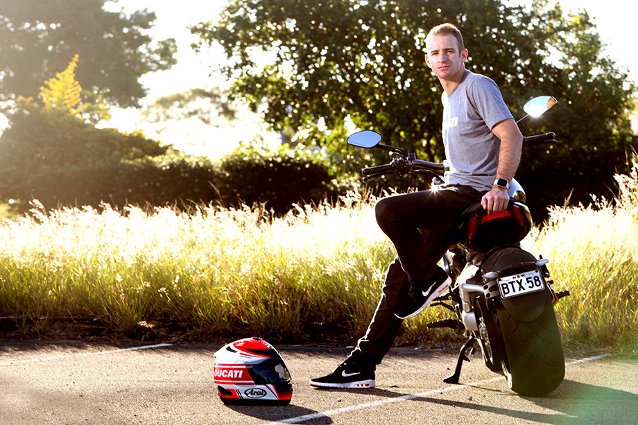 Will Davison - 23 Red Supercars Driver. Bathurst winner, Ducati lifestyle photoshoot