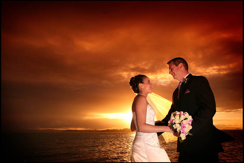 Sunset wedding photo - Wedding Photography on the Gold Coast, Byron Bay, Kingscliff, tumbulgum, byron Bay, brunswick heads, burleigh heads by chrisgentle #chrisgentle